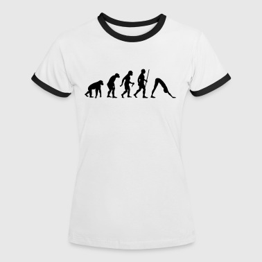Evolution - Yoga - Frauen Kontrast-T-Shirt