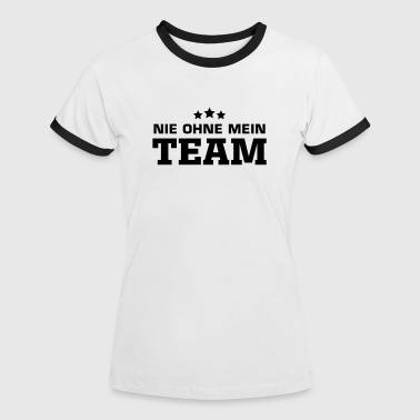team sport party jga - Frauen Kontrast-T-Shirt