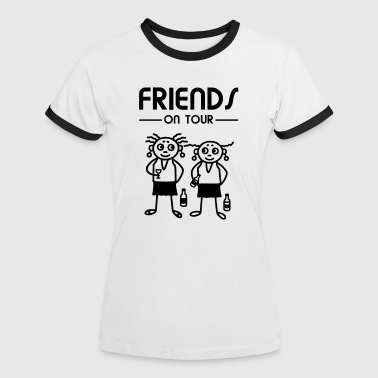 Friends on Tour - Frauen - Frauen Kontrast-T-Shirt