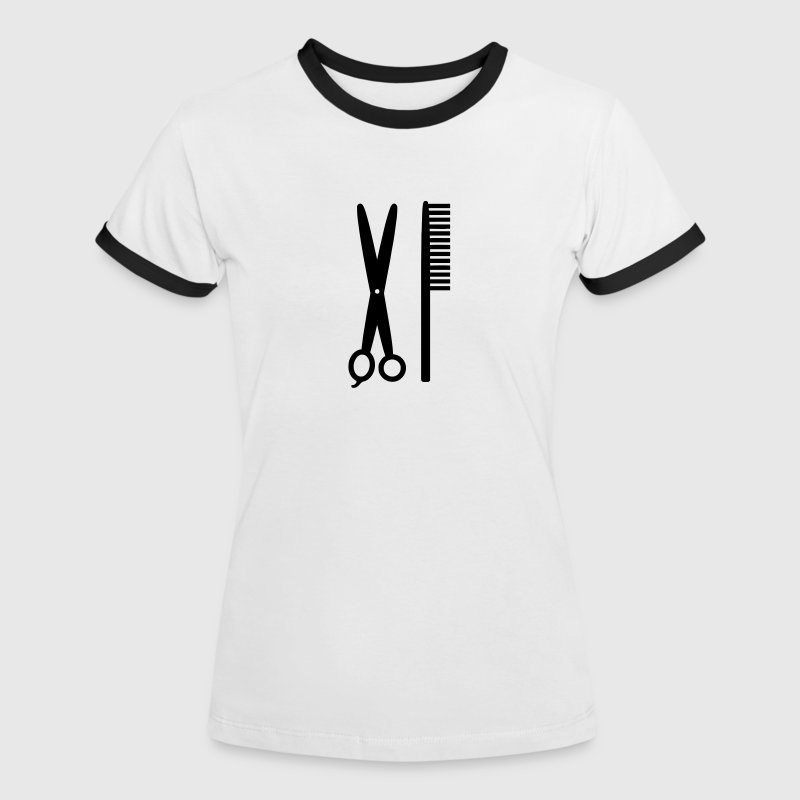 Comb & Scissors - Hairdresser - Women's Ringer T-Shirt