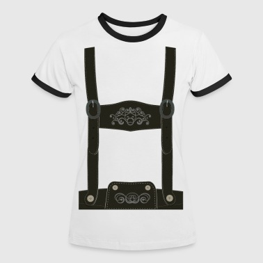 Leather pants / Oktoberfest - outfit / costume - Women's Ringer T-Shirt