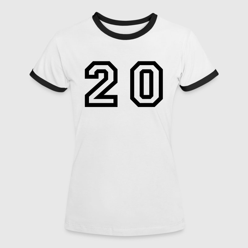 number - 20 - twenty - Women's Ringer T-Shirt