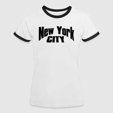 new york city - Vrouwen contrastshirt