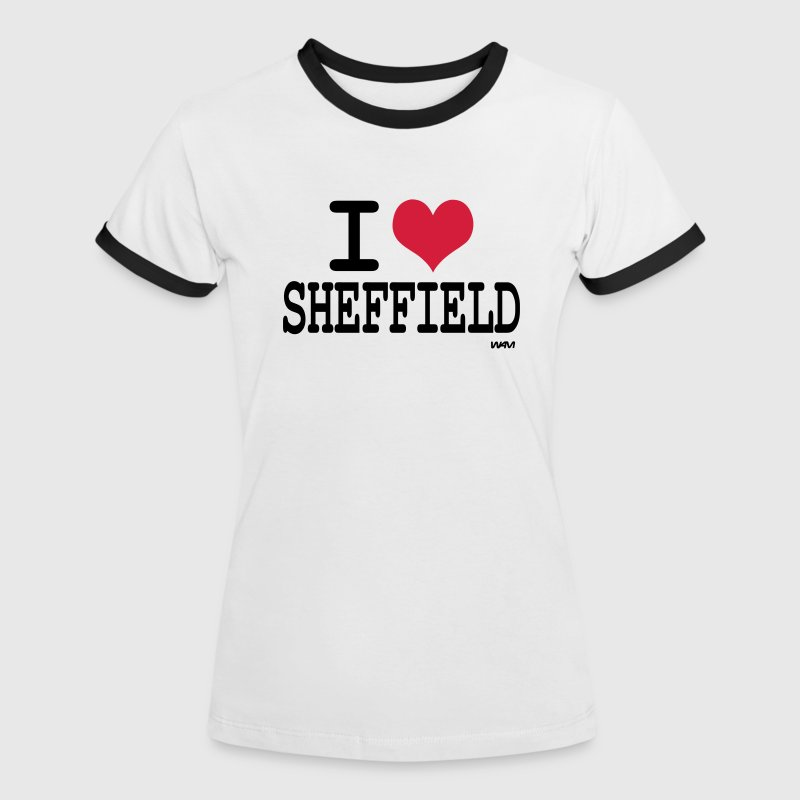 i love sheffield by wam - Women's Ringer T-Shirt