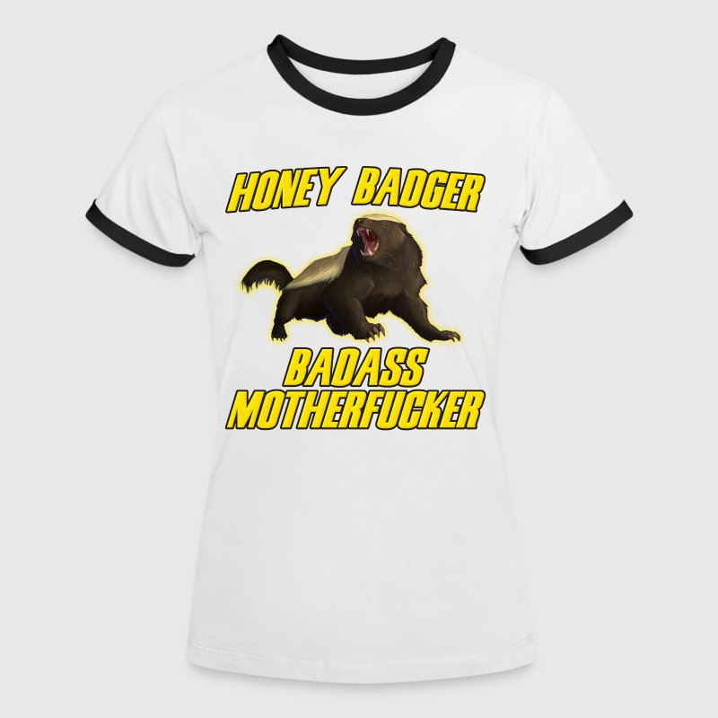 Honey Badger Badass Motherfucker - Vrouwen contrastshirt