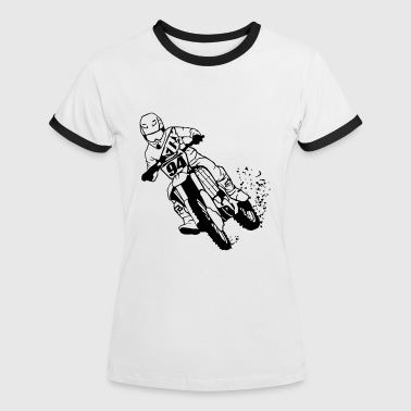 Moto Cross - Women's Ringer T-Shirt
