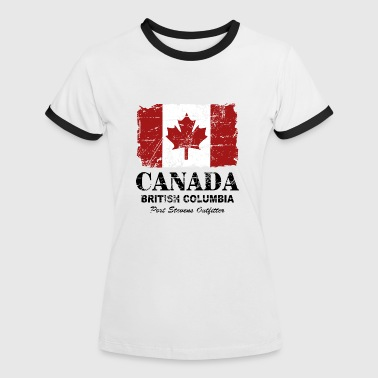 Canada Flag - Vintage Look - Women's Ringer T-Shirt