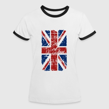 Union Jack - London - Vintage Look  - Women's Ringer T-Shirt