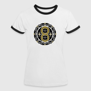 Kreation Hex Sign Kreation, Manifestation & Materialisation - Frauen Kontrast-T-Shirt