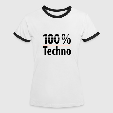 techno - Frauen Kontrast-T-Shirt