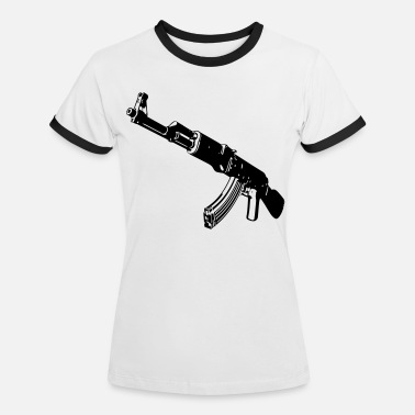 Machine Gun Machine gun - Women's Ringer T-Shirt