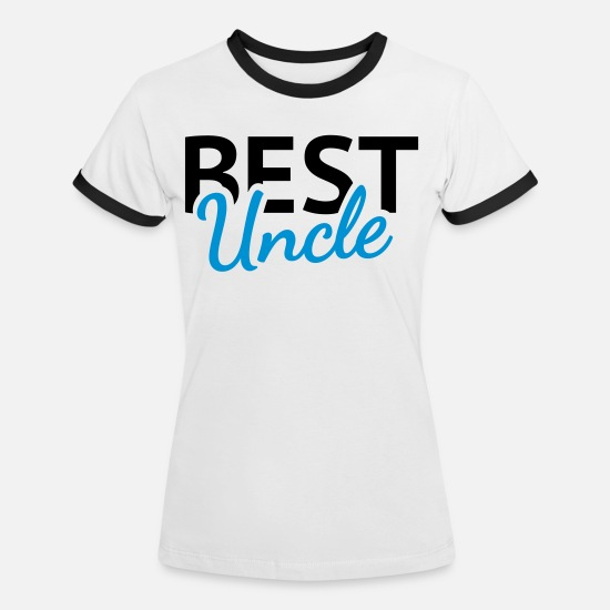Uncle T-shirts - Best Uncle - Kontrast T-shirt dam vit/svart