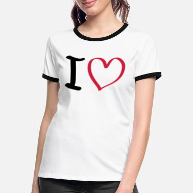 i love - Women's Ringer T-Shirt