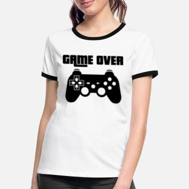 Station Game Over Play-Station - Frauen Ringer T-Shirt