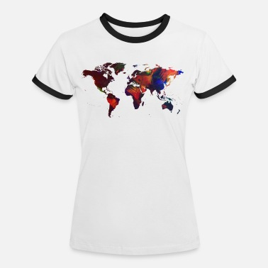 World Map Painted world map - Women's Ringer T-Shirt