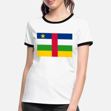 Central The Central African Republic flag - Women's Ringer T-Shirt