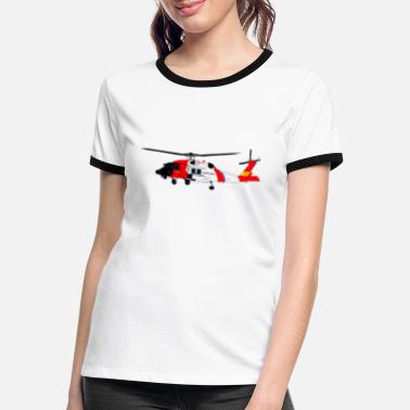 Coast Guard Helicopter helicopter Coast Guard Sikorsky MH-60 - Women's Ringer T-Shirt