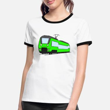 Regional Train Regional train train locomotive railroad model railway - Women's Ringer T-Shirt