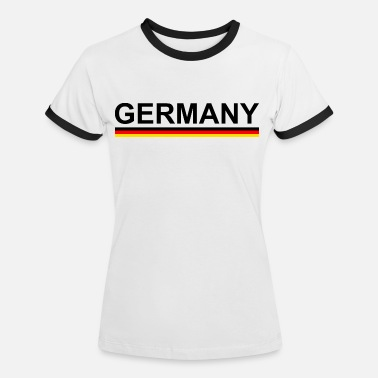 a62a56616772 World Cup European Football Championship Germany with flag - Women's  Ringer T