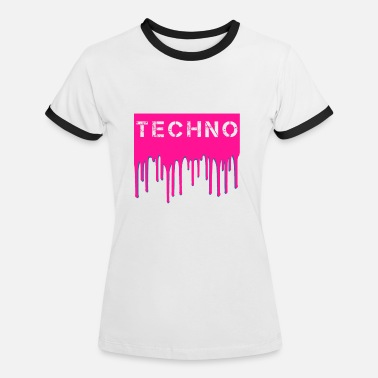 Techno - Women's Ringer T-Shirt