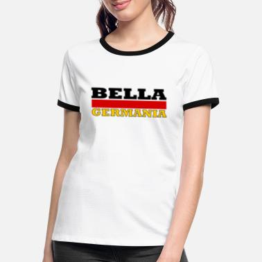 Germania Belle Allemagne (drapeau) - Bella Germania - T-shirt contrasté Femme