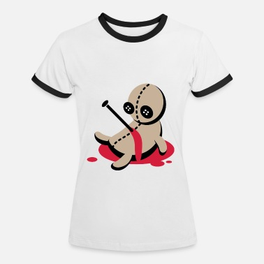 Witch One stabbed Voodoo Doll - Women's Ringer T-Shirt