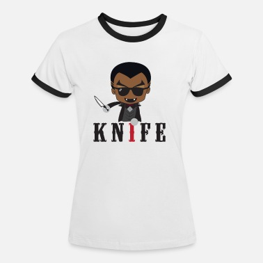 Knife Party Idea de regalo de Little Knife / Daywalker Vampire Teen - Camiseta contraste mujer