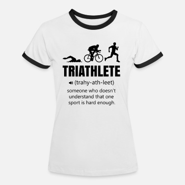 Triathlon Lustig Triathlon lustig - Frauen Ringer T-Shirt