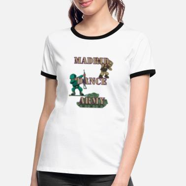Dance Army Madrid Dabbing Dancer Soldier Dance Dab - Women's Ringer T-Shirt