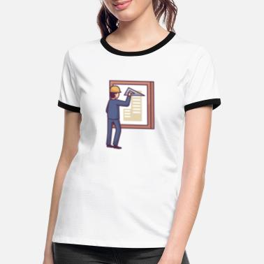 Drawing Architecture - Women's Ringer T-Shirt