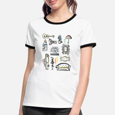 Tv Friends Icons - Vrouwen ringer T-Shirt