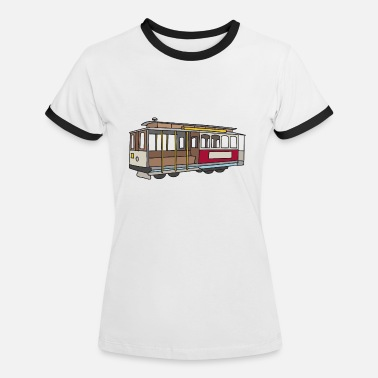 Mode Of Transport San Francisco Cablecar c - Women's Ringer T-Shirt