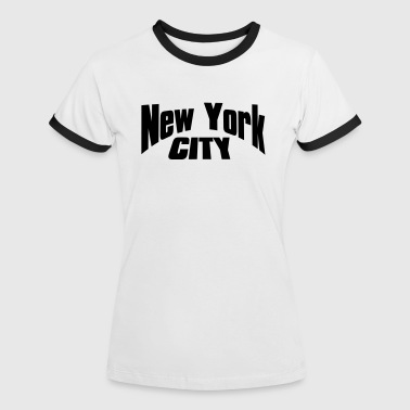 new york city - Frauen Kontrast-T-Shirt