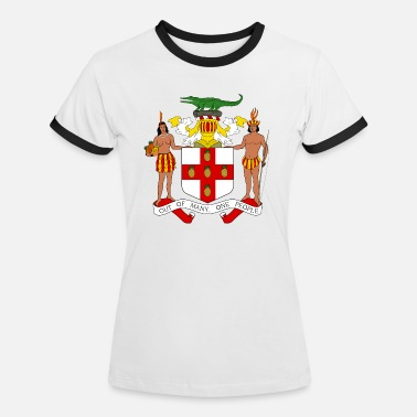 Commonwealth National Coat of Arms of Jamaica - Women's Ringer T-Shirt