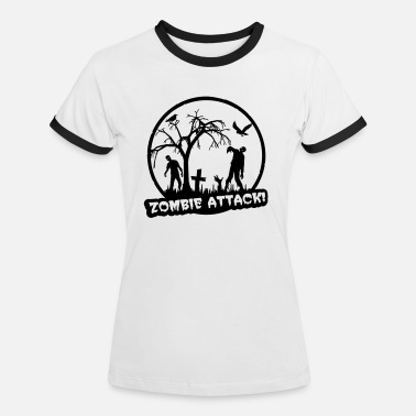 Horror Zombie Attack - Halloween - Camiseta contraste mujer
