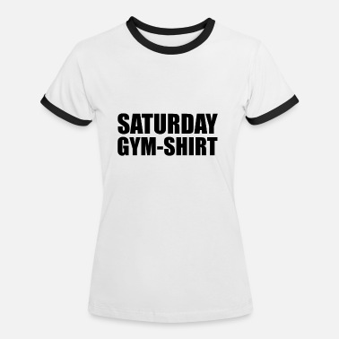 Saturday Night Live Lördags Gym Shirt - Kontrast T-shirt dam