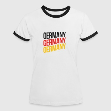Germany Flagge Schwarz Rot Gold - Frauen Kontrast-T-Shirt