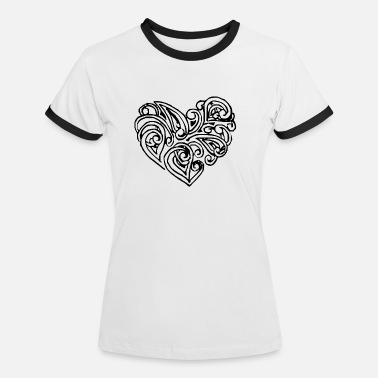 Stylish Stylish heart - Women's Ringer T-Shirt