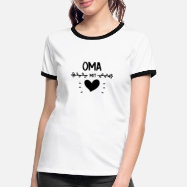 Gorgeous (NEW) OMA WITH HEART GORGEOUS GIFT - Women's Ringer T-Shirt
