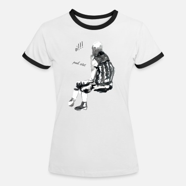 Scribble oi punk is sitting - Women's Ringer T-Shirt