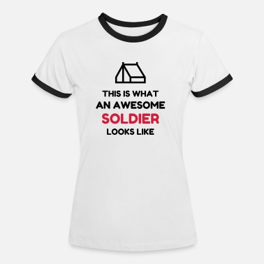 Leger soldaat / soldier / leger / military - Vrouwen ringer T-Shirt