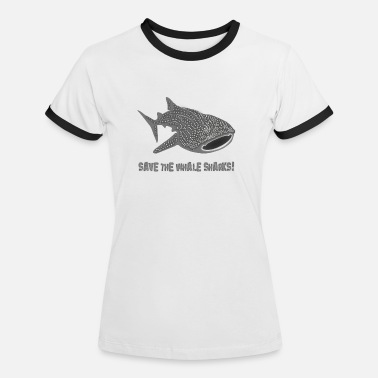 walvishaai wal vis haai save the whale sharks - Vrouwen ringer T-Shirt