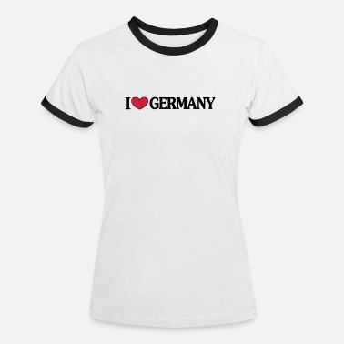 i love Germany - i ♥ Germany - T-shirt contrasté Femme