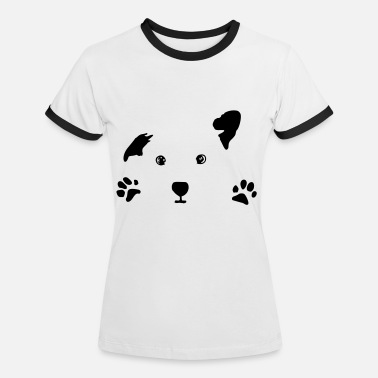 Dog Lover dog, puppy, dog face - Women's Ringer T-Shirt