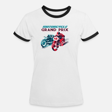 Royal Enfield MotorBike racing shirt - Women's Ringer T-Shirt