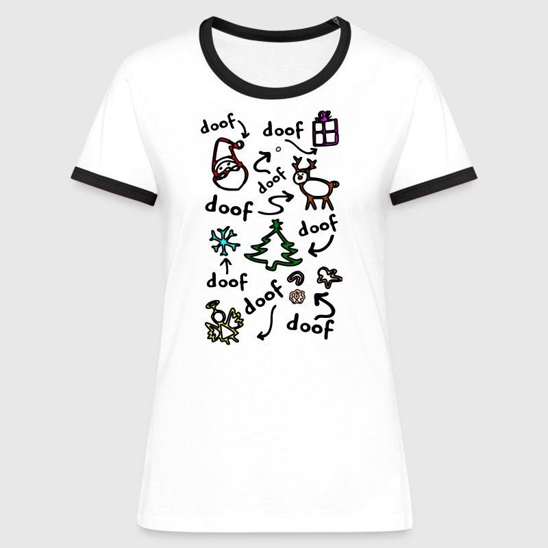 lustiges Weihnachtsgeschenk alles doof Strich von xsylx | Spreadshirt