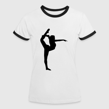 Turnerin Yoga, Tänzerin, Turnerin - Frauen Kontrast-T-Shirt