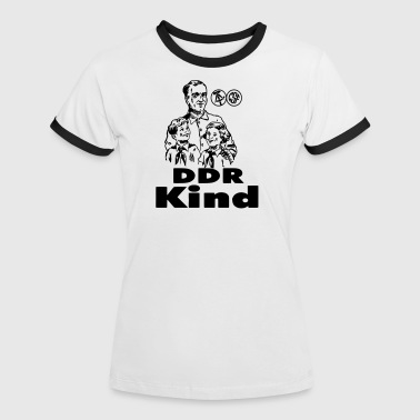 DDR Kind - Frauen Kontrast-T-Shirt