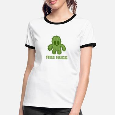 Prickly Free hugs - Women's Ringer T-Shirt