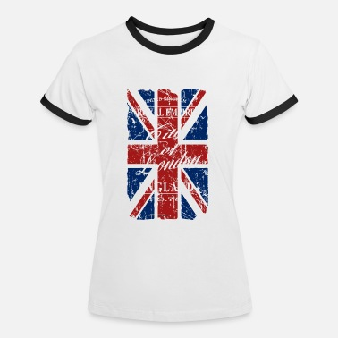 Union Jack Union Jack - London - Vintage Look  - Women's Ringer T-Shirt